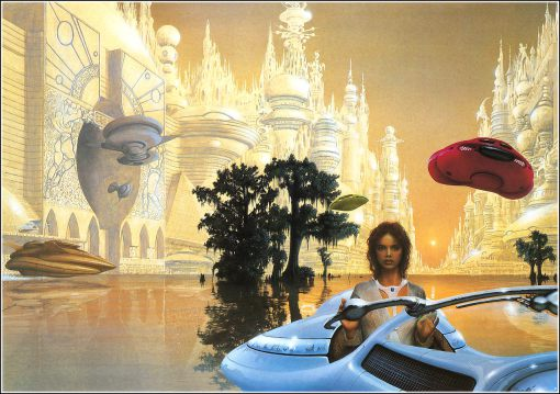 Majipoor Chronicles cover art by Jim Burns